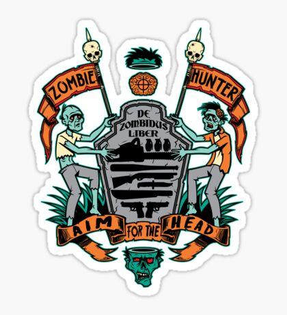 Zombie Hunters Coat of Arms (STICKER) Sticker