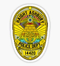 HAIGHT ASHBURY POLICE DEPT. SHIELD color Sticker