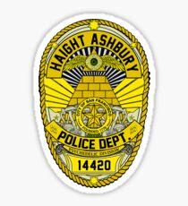 HAIGHT ASHBURY POLICE DEPT. SHIELD  Sticker