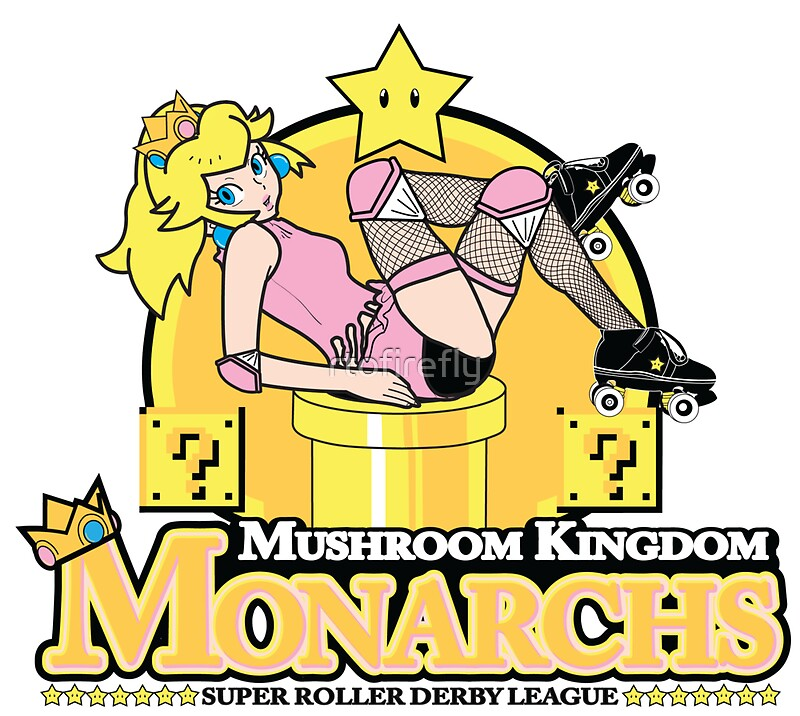 The mushroom kingdom monarchs sticker by rtofirefly