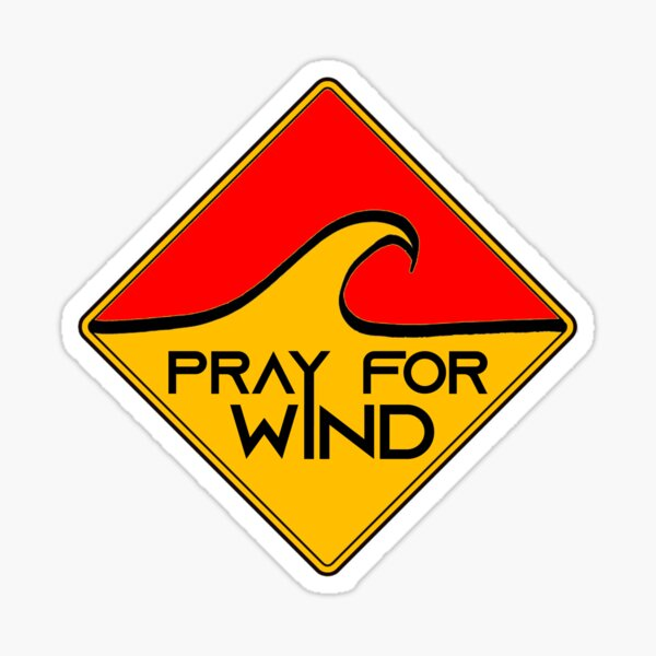 Pray for windsurf Sticker