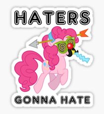 Pinkie Pie haters gonna hate with Text Sticker