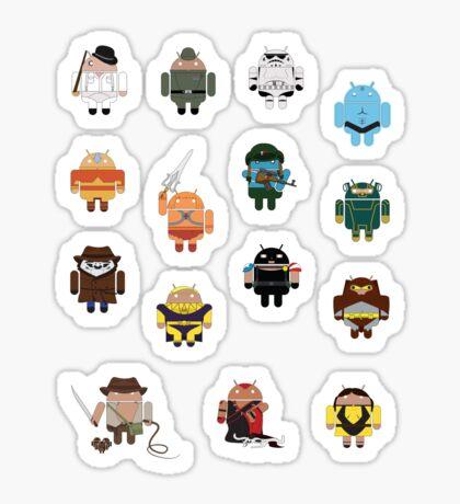 DroidArmy: Maclac Squadron (Mini Stickers) Sticker