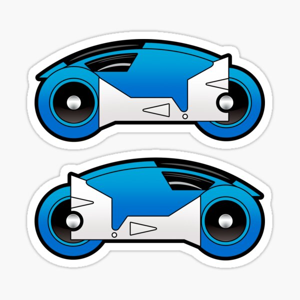 TRON Classic Blue Lightcycle Stickers Sticker