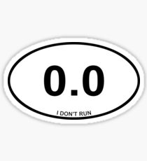 Non Runner Sticker