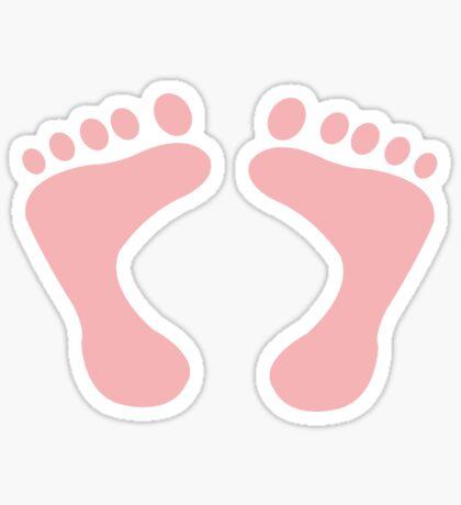 PITTER PATTER STICKER - BABY PINK Sticker