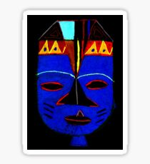 Blue Mask by Josh T-Shirt Sticker