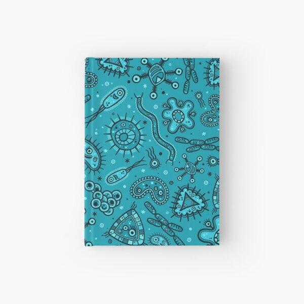 Cartoon Microbes - Teal Hardcover Journal