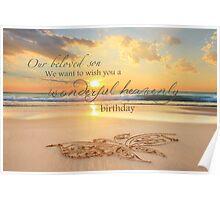Son's Heavenly Birthday Poster