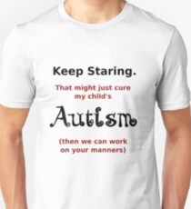 Autism - Staring Helps (Not). Slim Fit T-Shirt