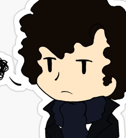 Annoyed Chibi!Sherlock Sticker