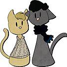 Sherlockian Cats- Stickers by imbusymycroft
