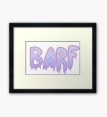 Barf BLUE Framed Print