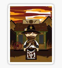 Cute Cowboy Sheriff at Jailhouse Sticker