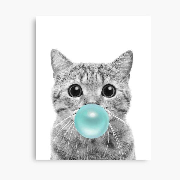 Cat Bubblegum Canvas Print