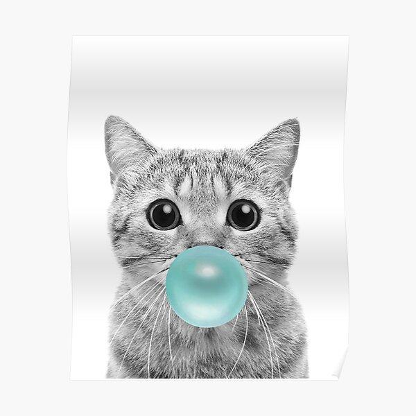 Cat Bubblegum Poster