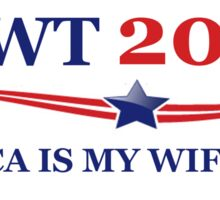 NEWT 2012: America Is My Wife Now Sticker