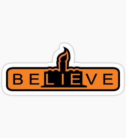 beLIEve orange STICKER Sticker