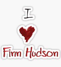 I Heart Finn Hudson Sticker
