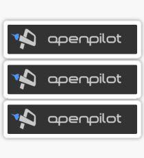 OpenPilot (rectangle x3) Sticker