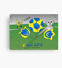 EURO 2012 binary options news cartoon Canvas Print