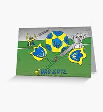 EURO 2012 binary options news cartoon Greeting Card