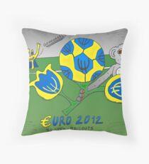EURO 2012 binary options news cartoon Throw Pillow