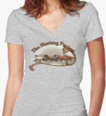 A Band of Brothers Women's Fitted V-Neck T-Shirt
