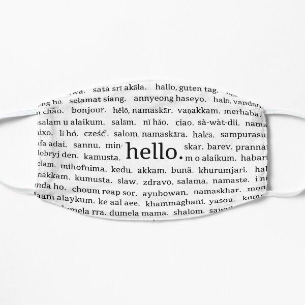 Coronavirus Mask Hello World Languages Flat Mask