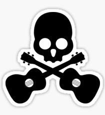 Old Skull Music Guitar Sticker