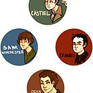 Supernatural Stickers by Bskizzle
