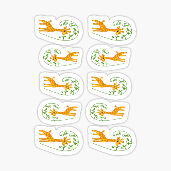 giraffe stickers Sticker