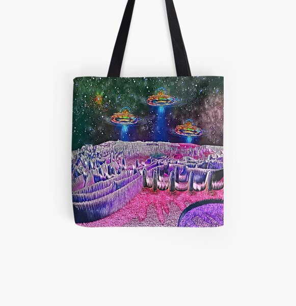 Intergalactic Airport Of Galaxia Mystica All Over Print Tote Bag