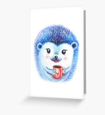 Blueberry Hedgehog  Greeting Card