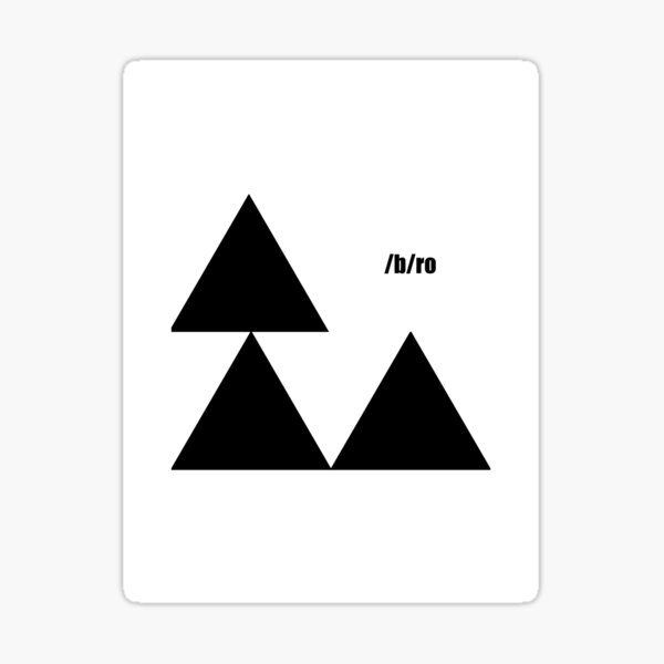 Triforce, (4chan Style) Sticker