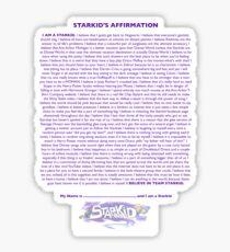 Starkid Affirmation Sticker