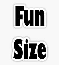 Fun Size Sticker