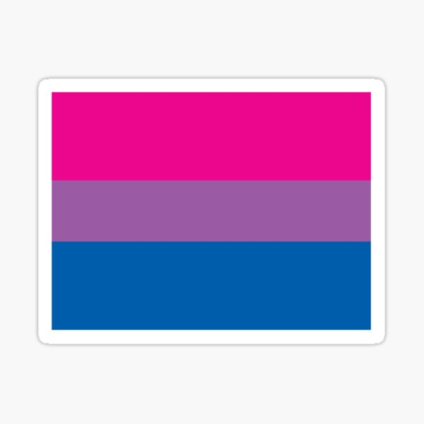 Bisexual Pride Flag Sticker