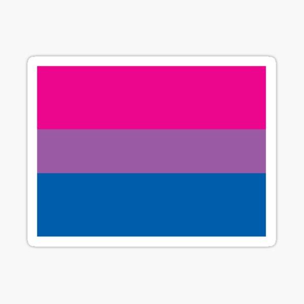 Bandera del orgullo bisexual Pegatina
