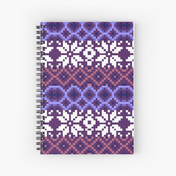 Ulos and Scandinavian inspired Weave  Spiral Notebook