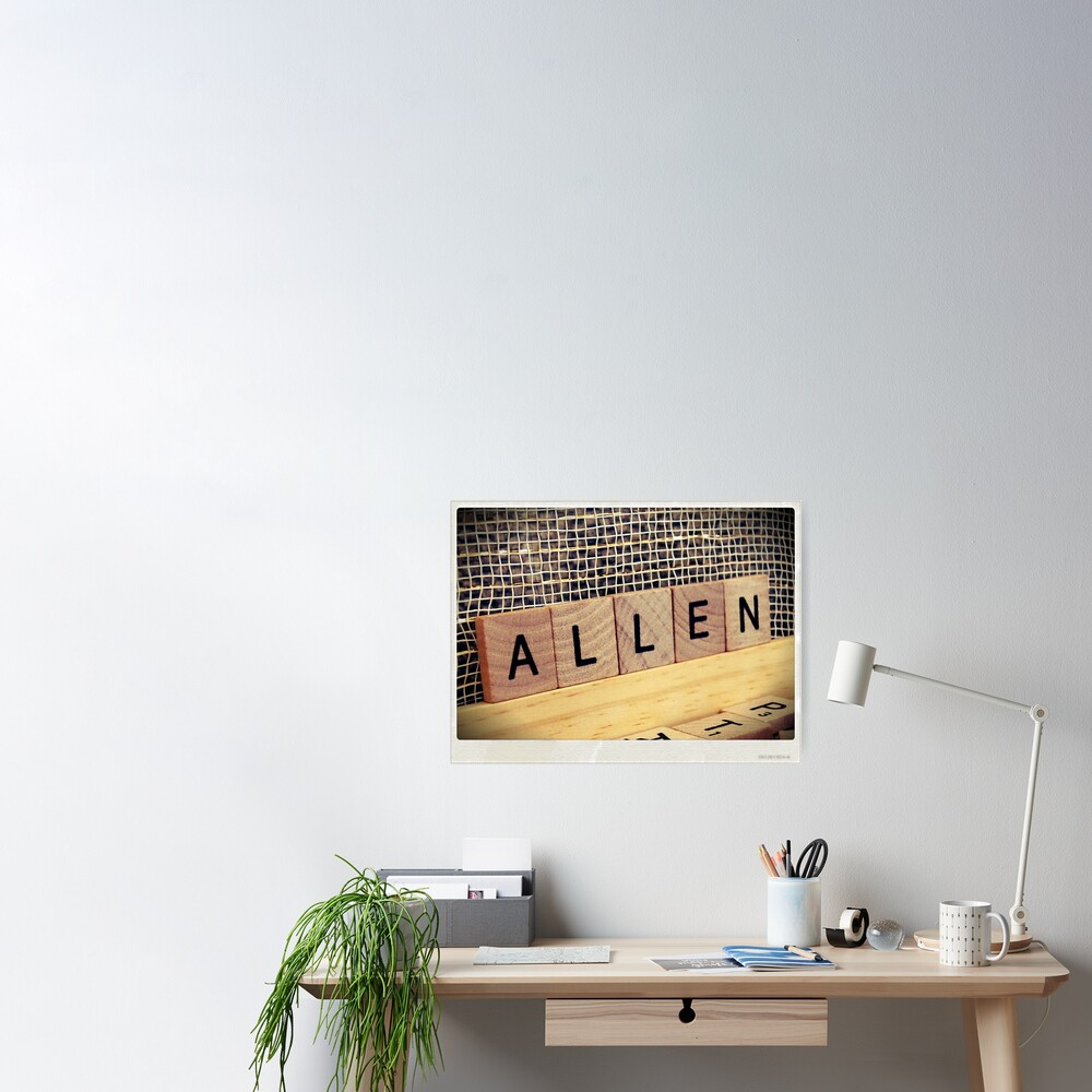 Allen bag, Allen socks, Allen, Allen notebook, Allen greeting card  Poster