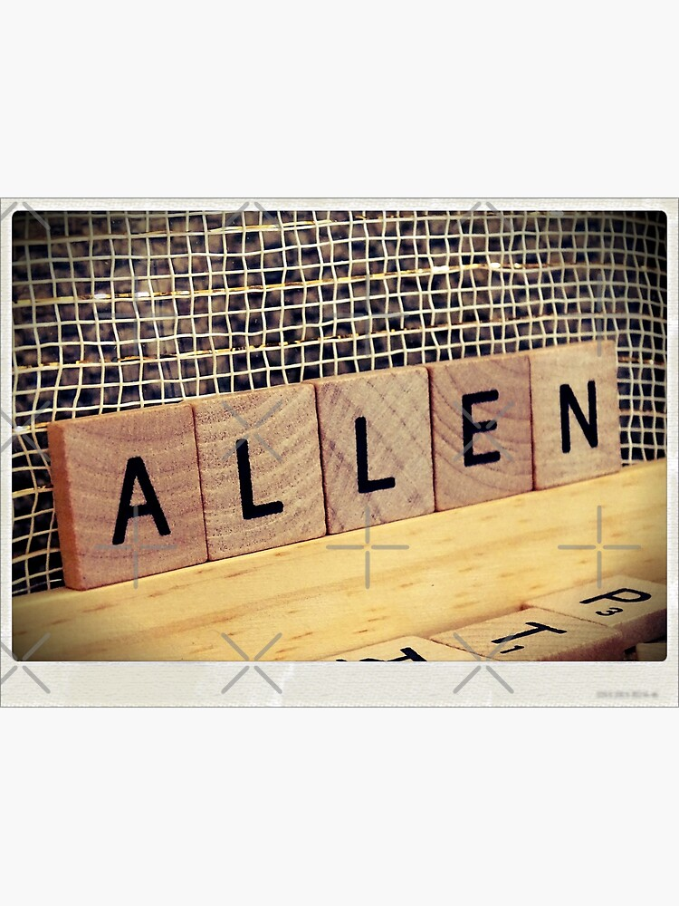 Allen bag, Allen socks, Allen, Allen notebook, Allen greeting card  by PicsByMi