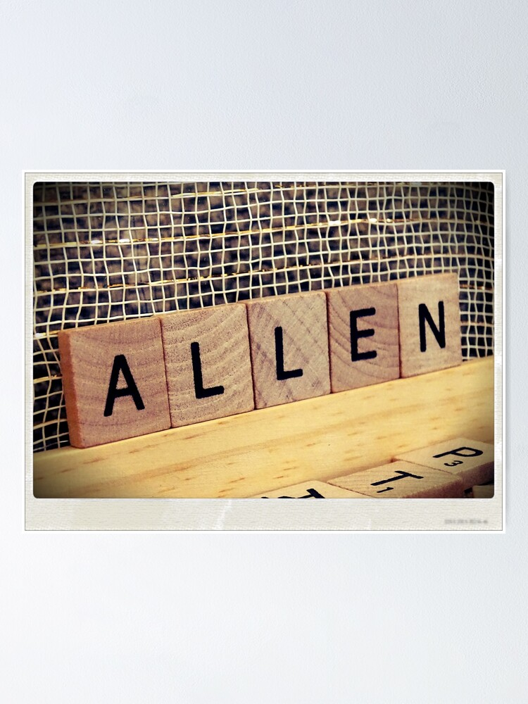 Alternate view of Allen bag, Allen socks, Allen, Allen notebook, Allen greeting card  Poster