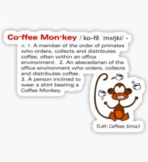 Coffee Monkey - Definition - Sticker Sticker