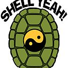 Shell Yeah Orange Sticker by cybercat