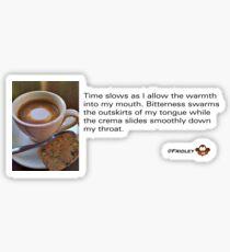 Caffeinated Poetry - Bitter bliss - Sticker Sticker