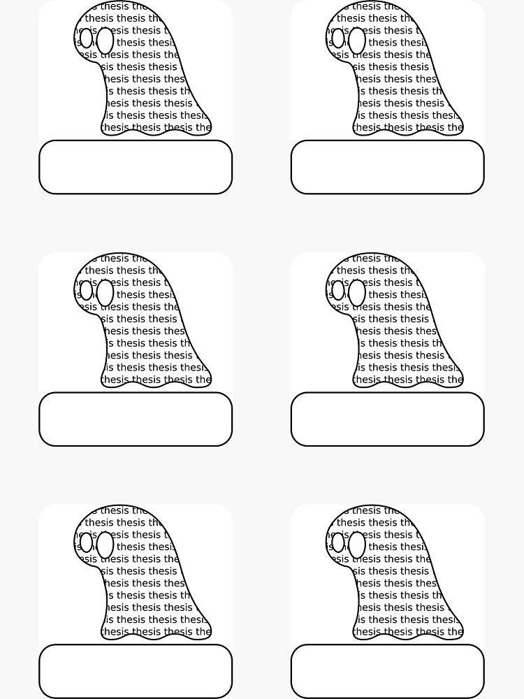 Thesis Monster Stickers (blank) - two lof bees by Cheeseness