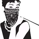 Gangster Audrey Hepburn | STICKER by inspctrspactime