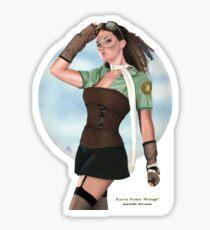 Earn Your Wings shirt/sticker Sticker