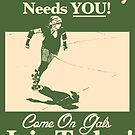 Roller Girl Recruitment Sticker by John Perlock